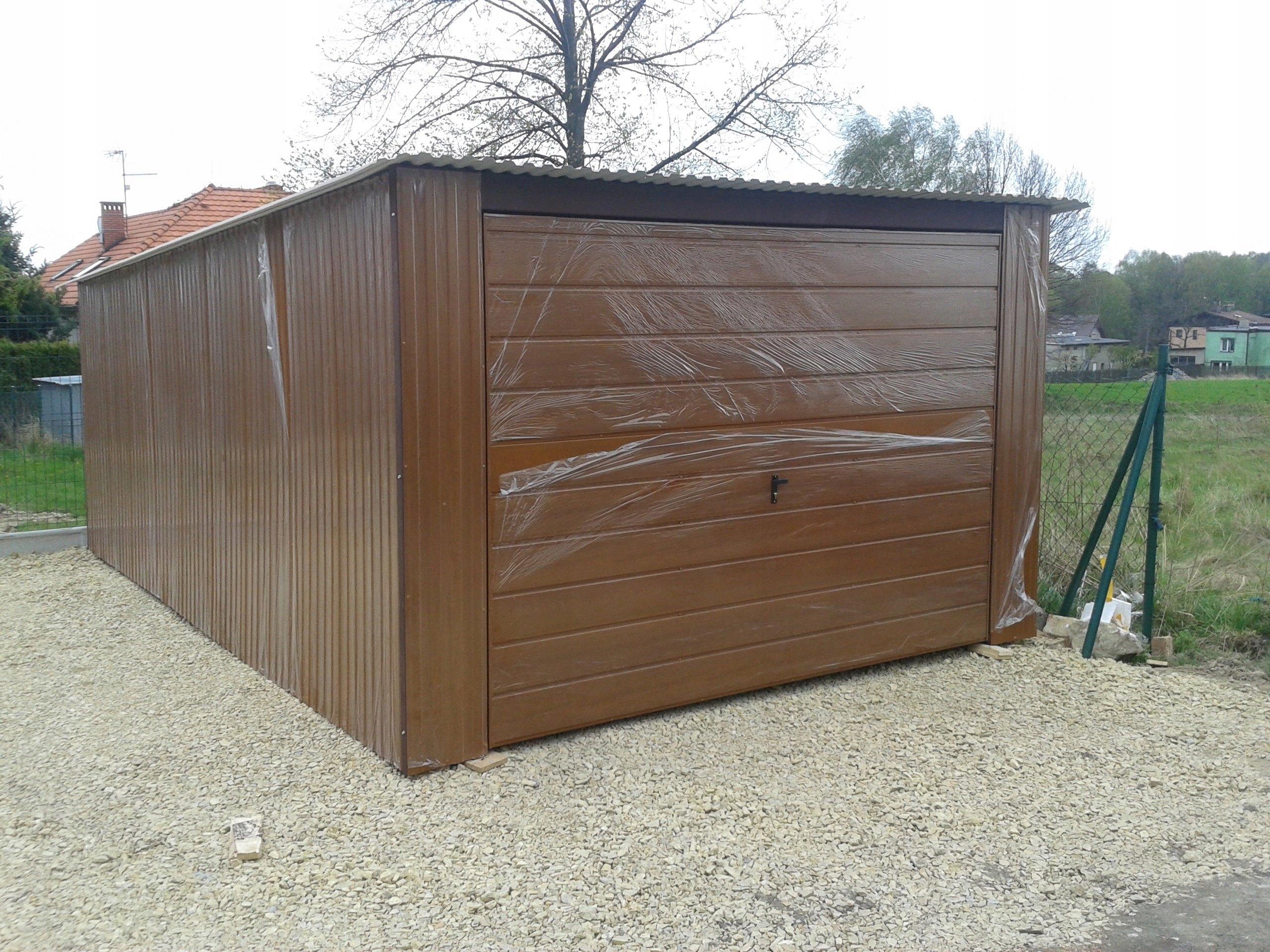 Garaż Blaszany Całoroczny Wiata Blaszak 4x5 6834256602