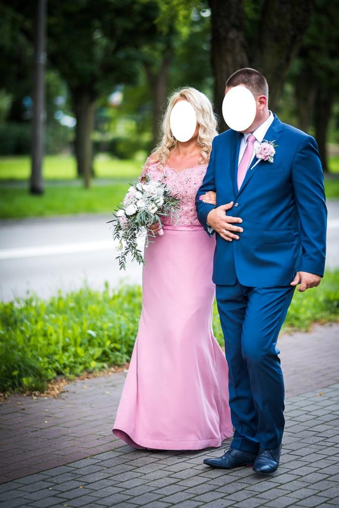cd196838aa Jedyna wyjątkowa suknia ślubna różowa 44 46 - 7292734303 - oficjalne ...