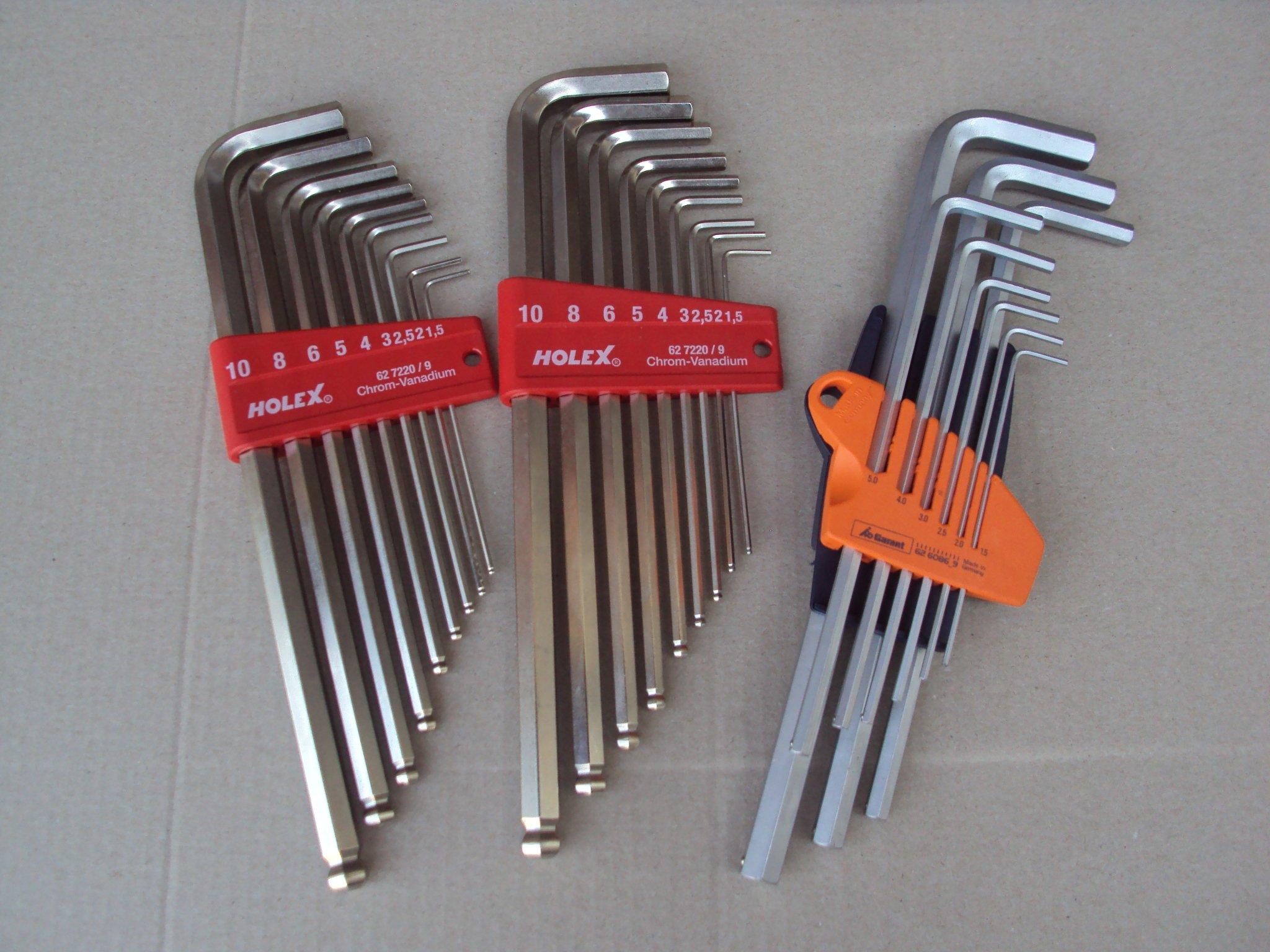 Klucze imbusowe imbusy HoleX od 1,5 do 10mm