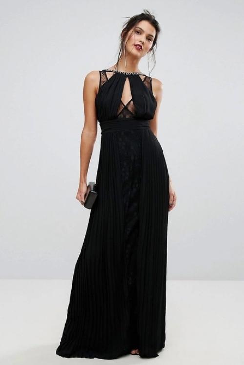 7686a06251e41b TFNC Sukienka 36 (S) Maxi Tall Czarna Koronkowa - 7574888391 ...