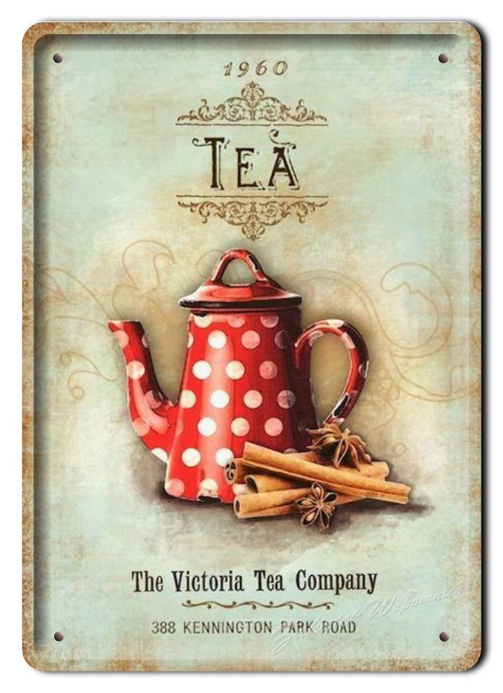 Herbata Metalowy Szyld Plakat Obrazek Retro 05013