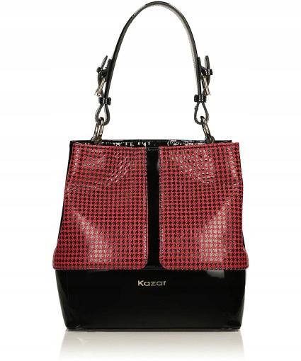99665194 Czerwono-czarna torebka damska KAZAR - 7687057960 - oficjalne ...