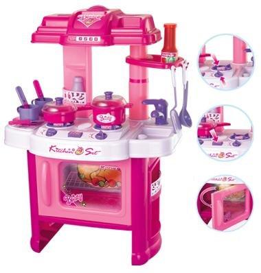 Kuchnia Z Piekarnikiem Różowa Dźwięki światło