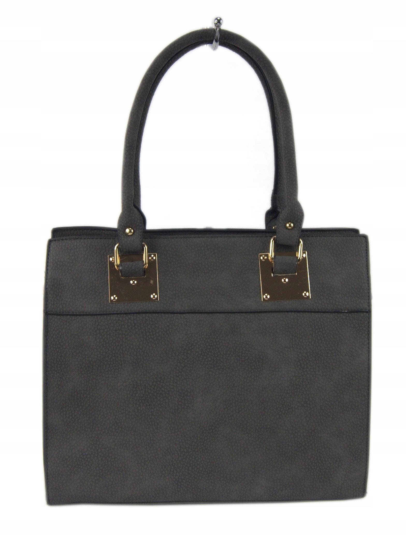 8ab3470853017 Torebka damska stylowa shopper bag SZARA BIZNESOWA - 7446339380 ...