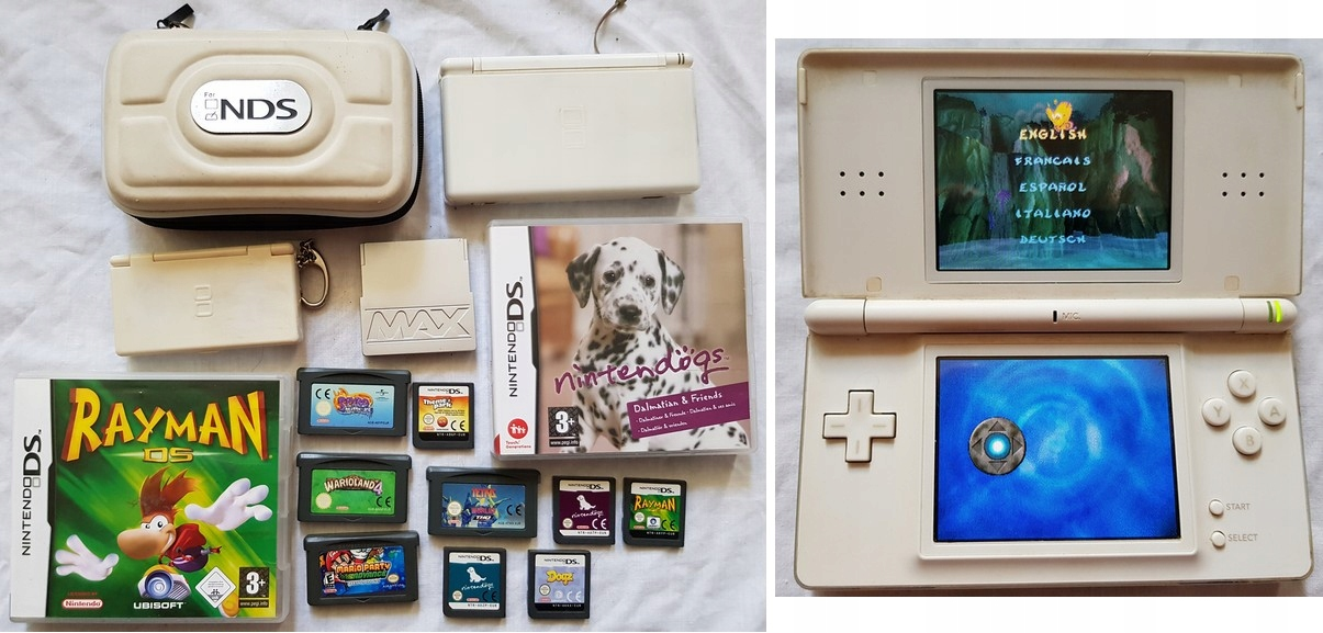 nintendo ds lite + gry itd
