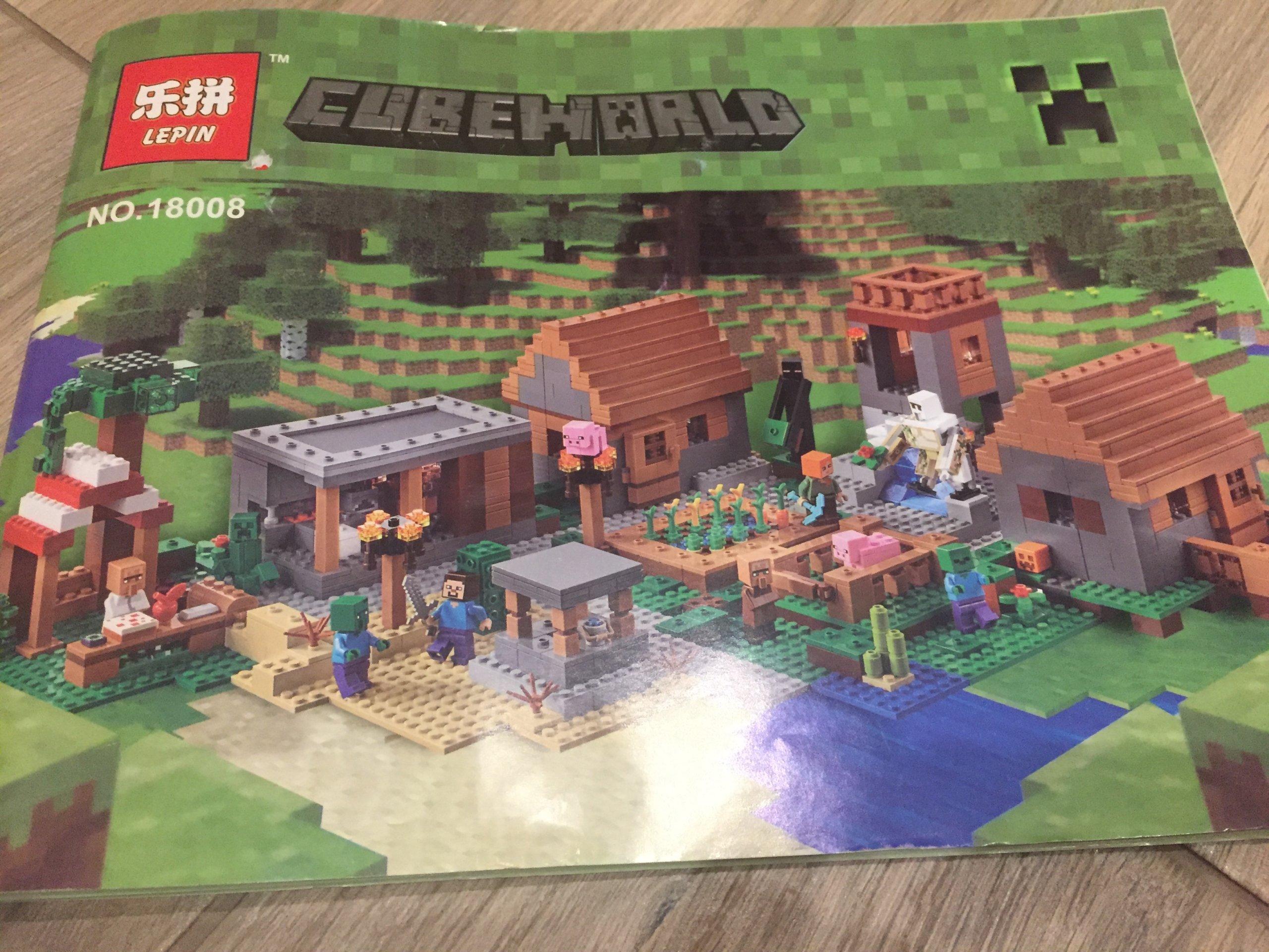 Klocki Minecraft Wioska Cały Zestaw Nowy Nie Lego 7160369728