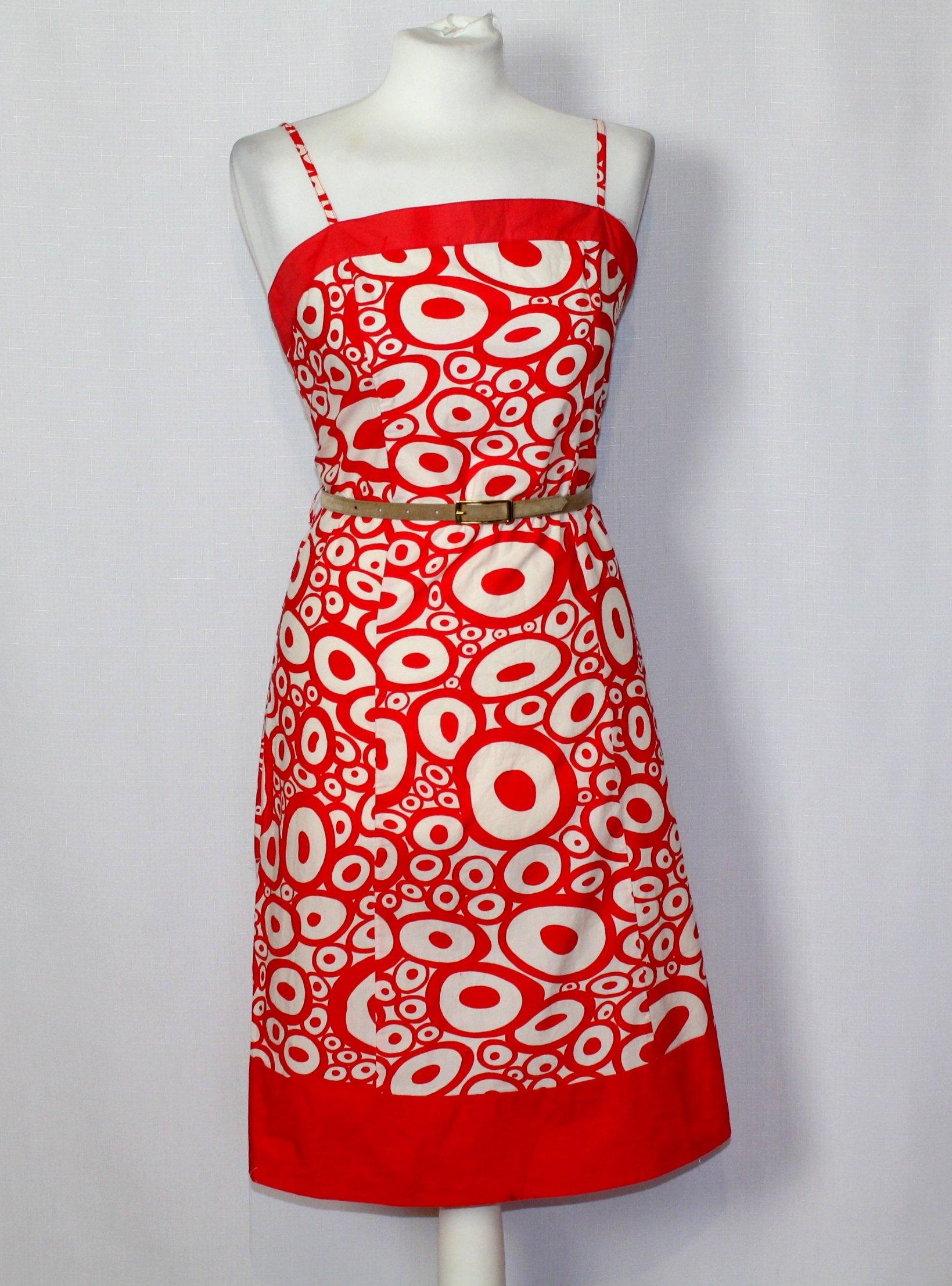 328171b822 Bawełniana czerwona sukienka w kwiaty PAPAYA 40 12 - 7253406993 ...