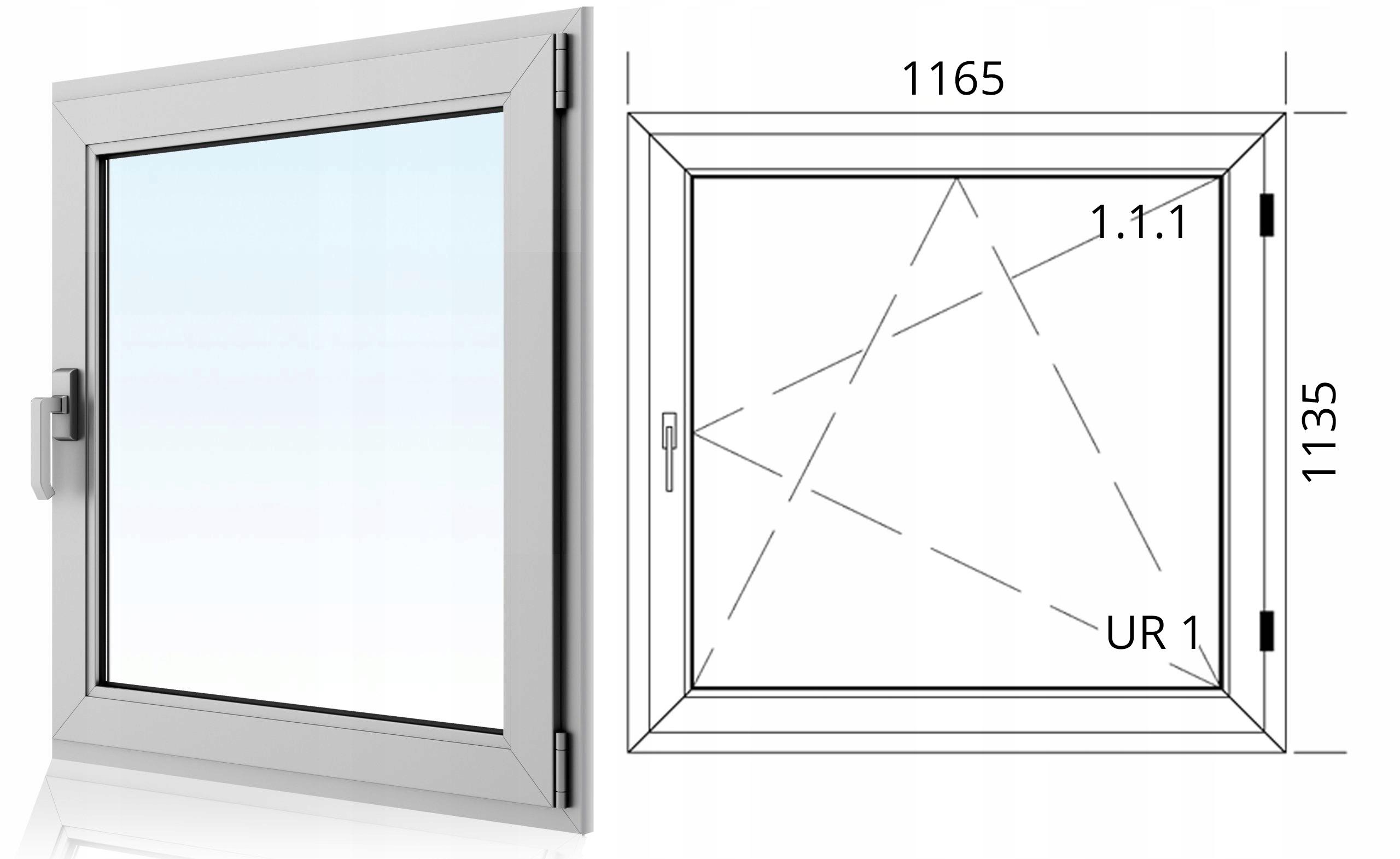 Wspaniały OKNA okno PCV UCHYLNE Plastikowe Typowe, nietypowe - 7157758008 RO55