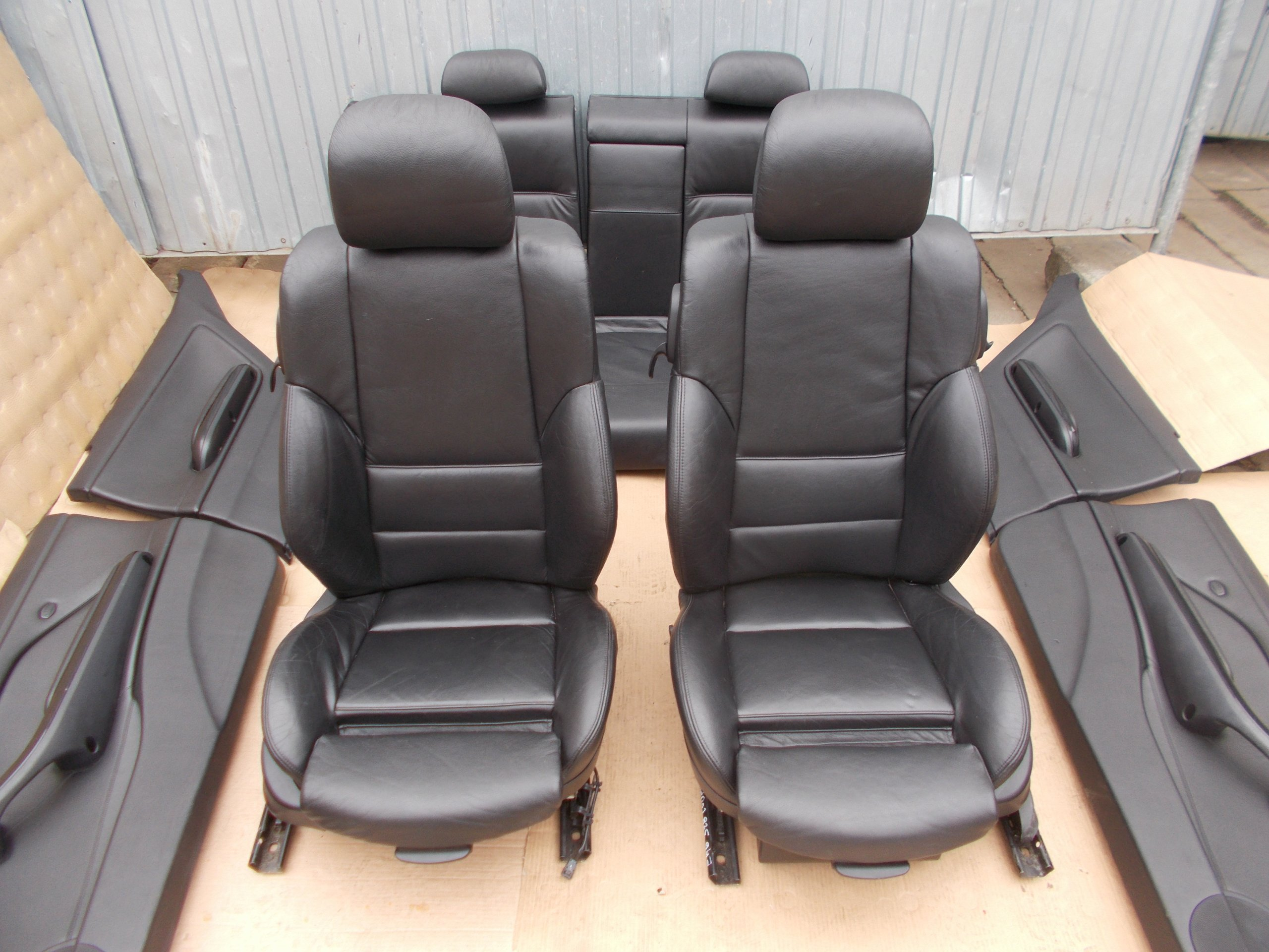 Fotele Czarna Skora Sport M Pakiet Bmw E46 Coupe