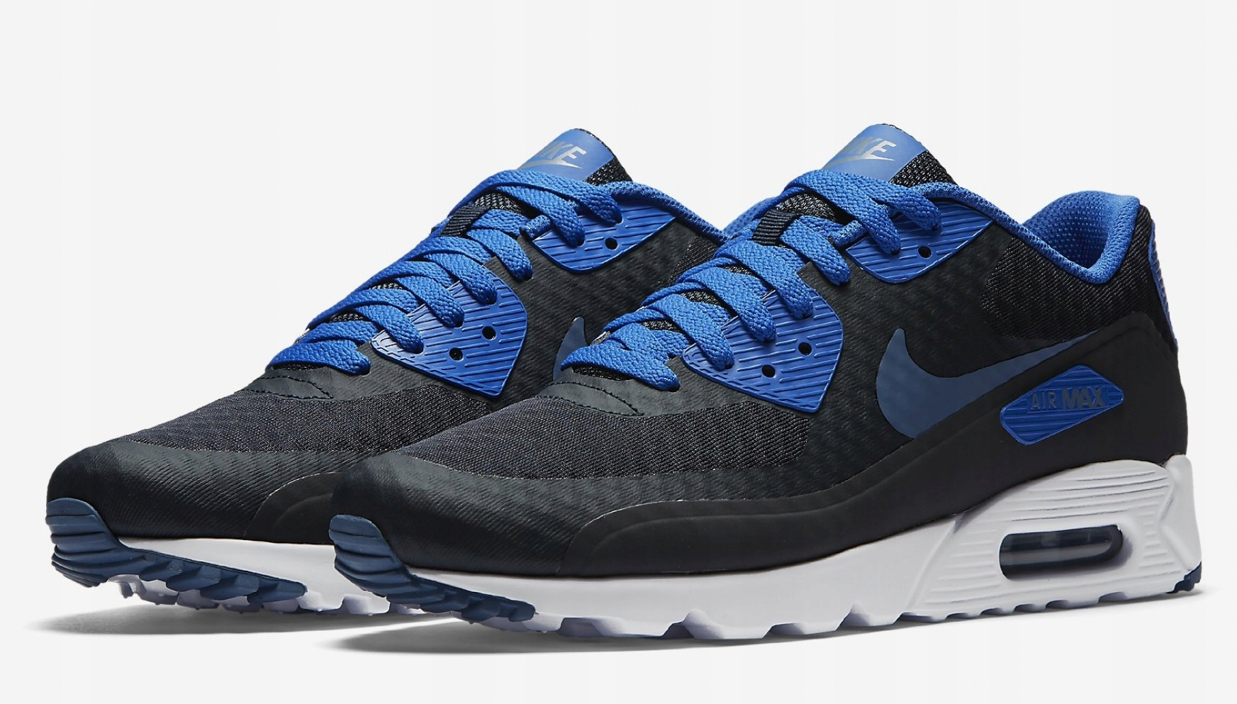 Nike Air Max 90 Ultra 2.0 Essential Dark Grey Blue White Classic 819474 405
