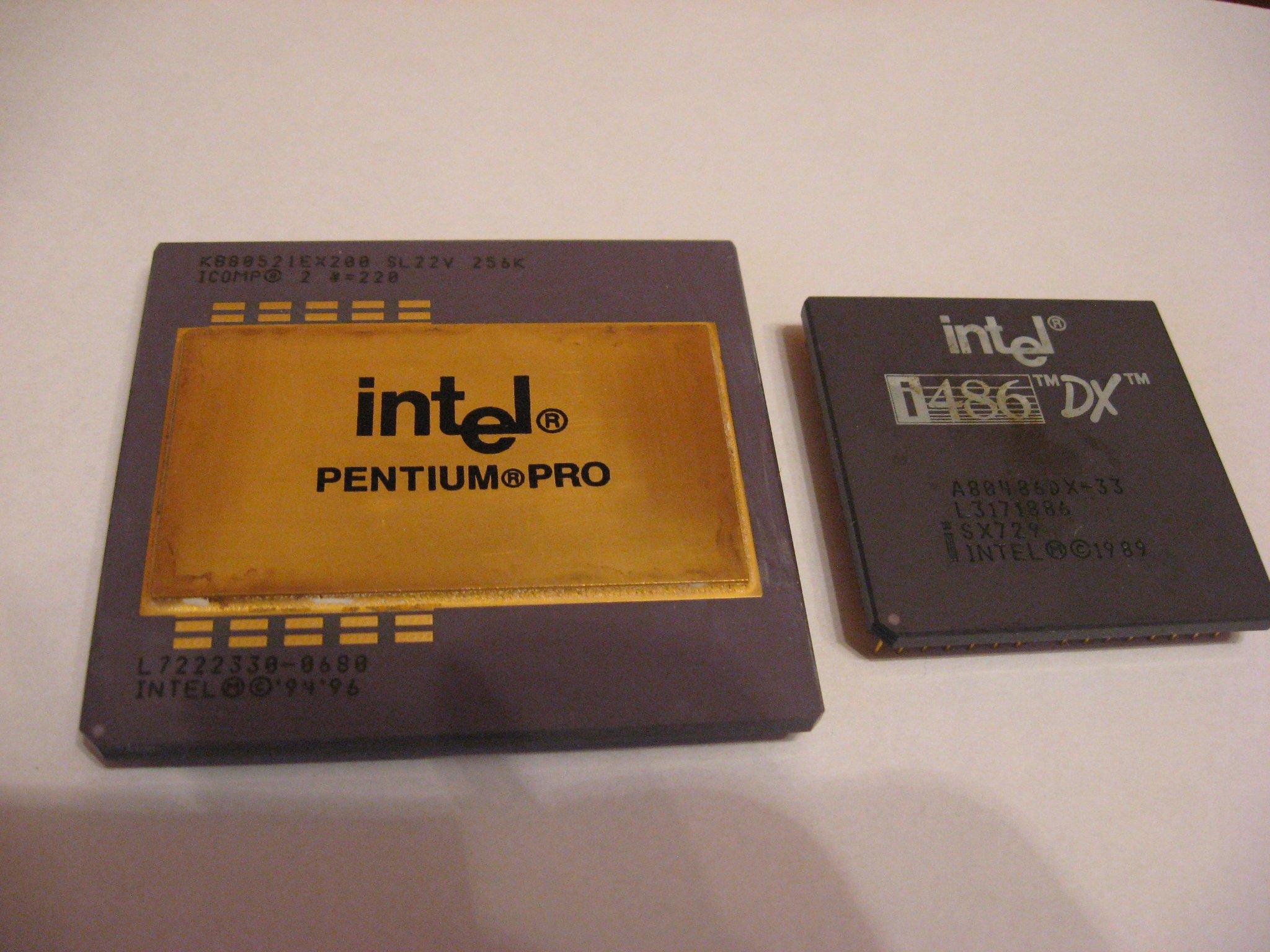 Odzysk złota procesor INTEL Pentium PRO i486