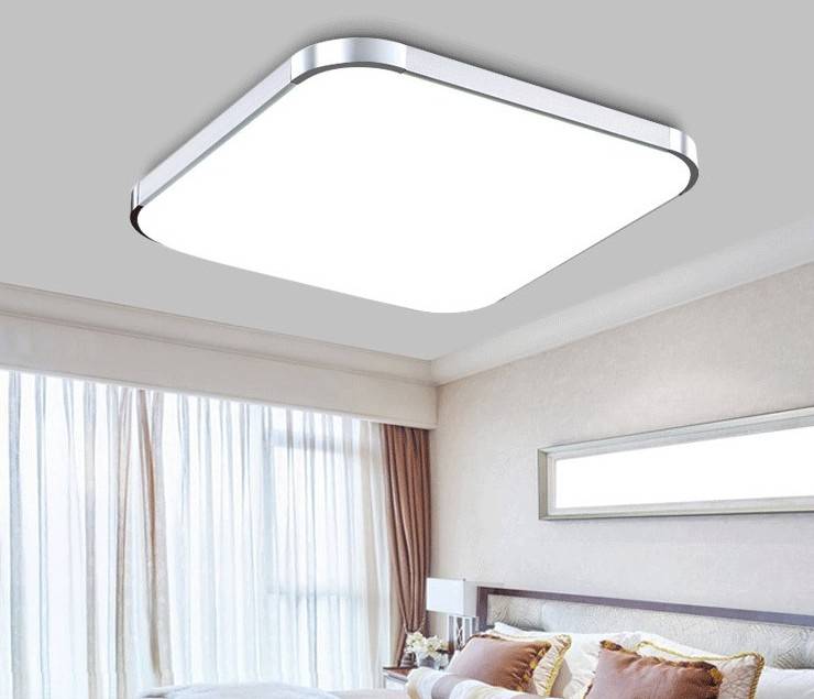 PLAFON SUFITOWY SCALA SILVER LED 20W 45x45cm