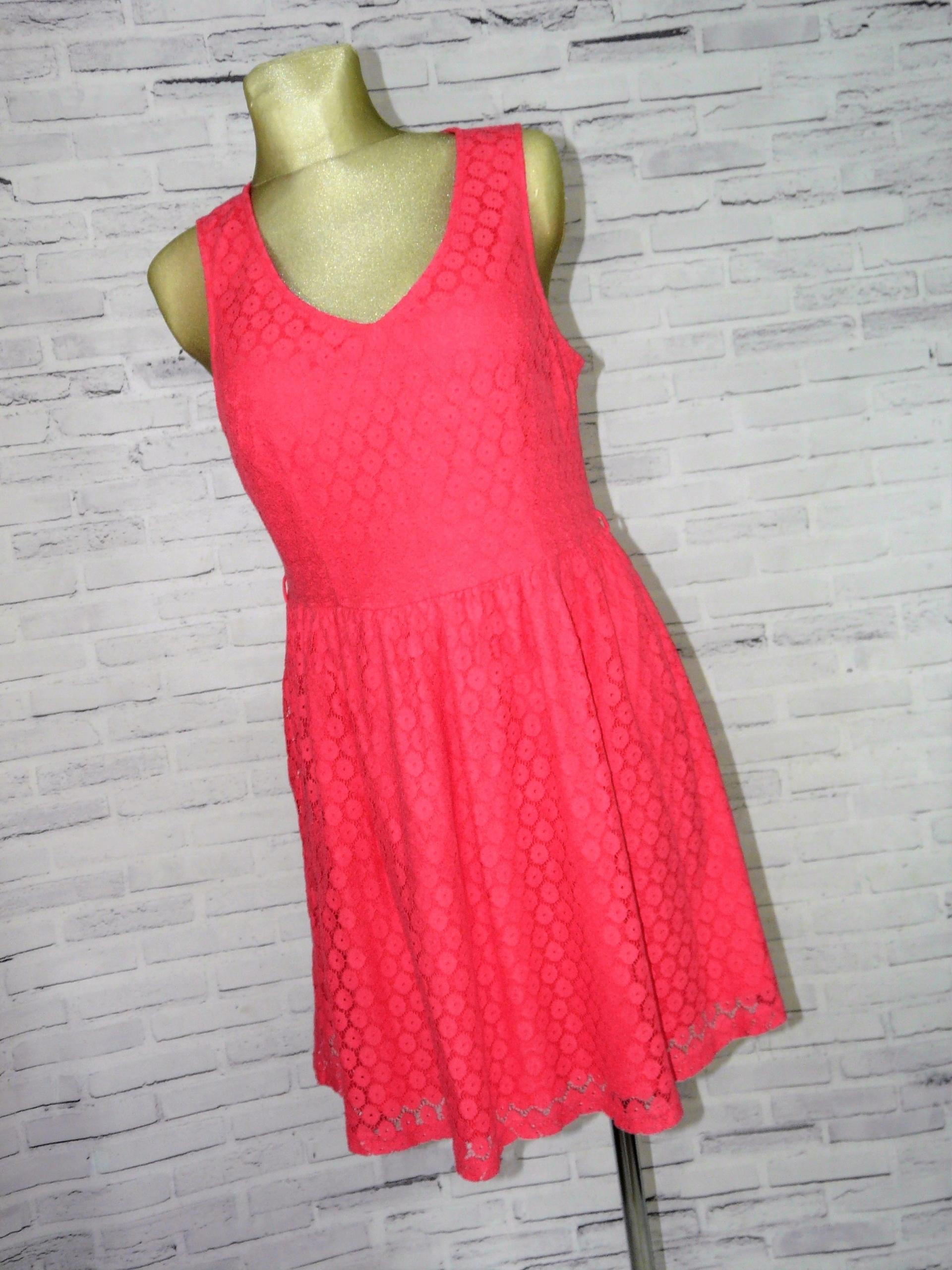 d781f08269 NEW LOOK rózowa koronkowa sukienka 42 - 7553399515 - oficjalne ...