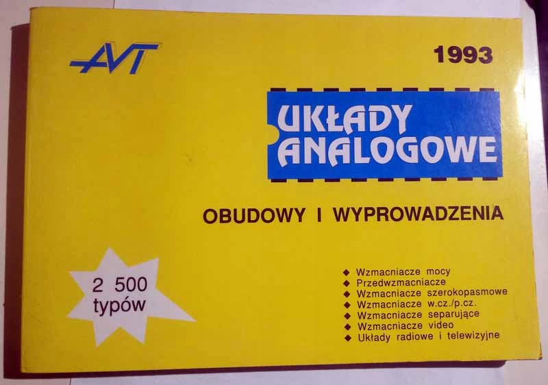 Układy analogowe obudowy i wyprowadzenia AVT 1993