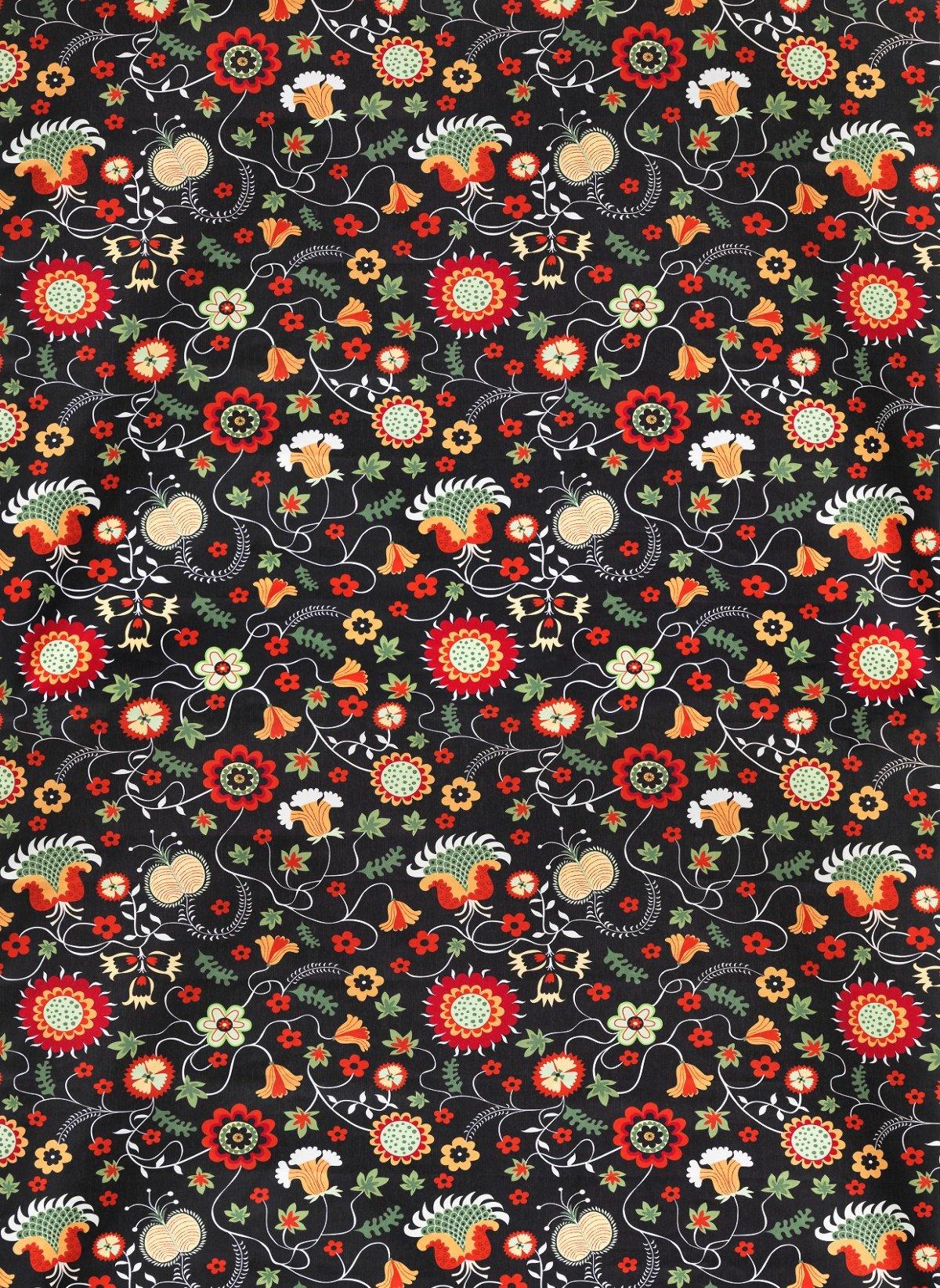 Ikea Rosenrips Tkanina Bawełna Kwiaty Szer 150cm