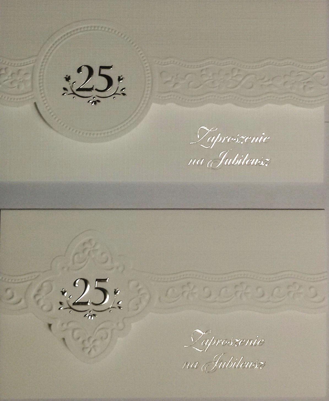 Zaproszenie Na 25 Tą Rocznicę Jubileusz ślubu Op 7433370356