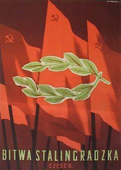 Plakat Wojciech Zamecznik Bitwa Stalingradzka 1950