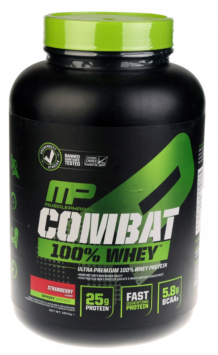 MP COMBAT 100% Whey MusclePharm WPI + WPC USA