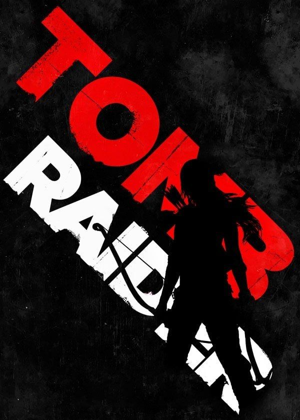 Typography Stencils Tomb Raider Plakat 7696324869