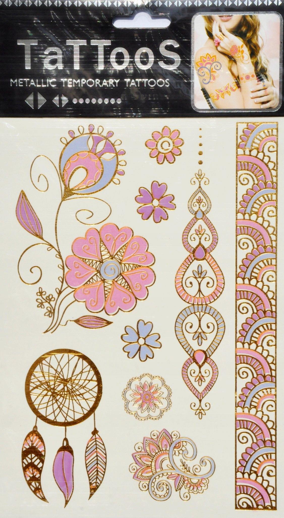 Tatuaże Flash Metaliczne Tatoo Złote Dla Dzieci 7398824958