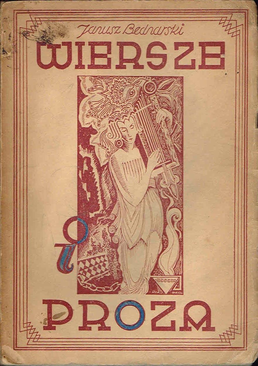 Janusz Bednarski Wiersze I Proza 1937 Wyd 2