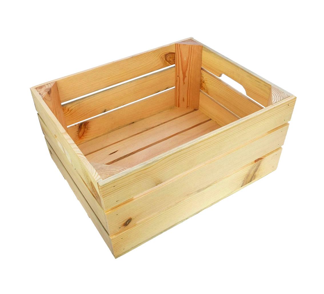 bc17994bf1470 Skrzynka drewniana sosnowa dekoracyjna 40x30x21 - 7175493710 ...
