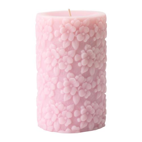 IKEA FULLGOD Świeca zapachowa 14 cm RÓŻOWY PROMO