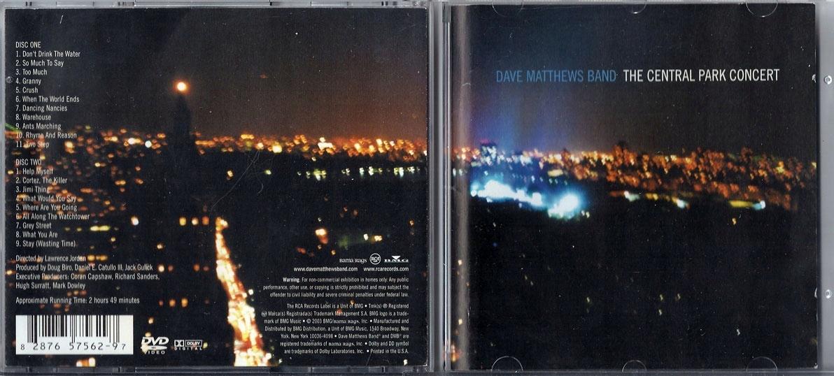DAVE MATTHEWS BAND Central Park Concert 2DVD [USA]