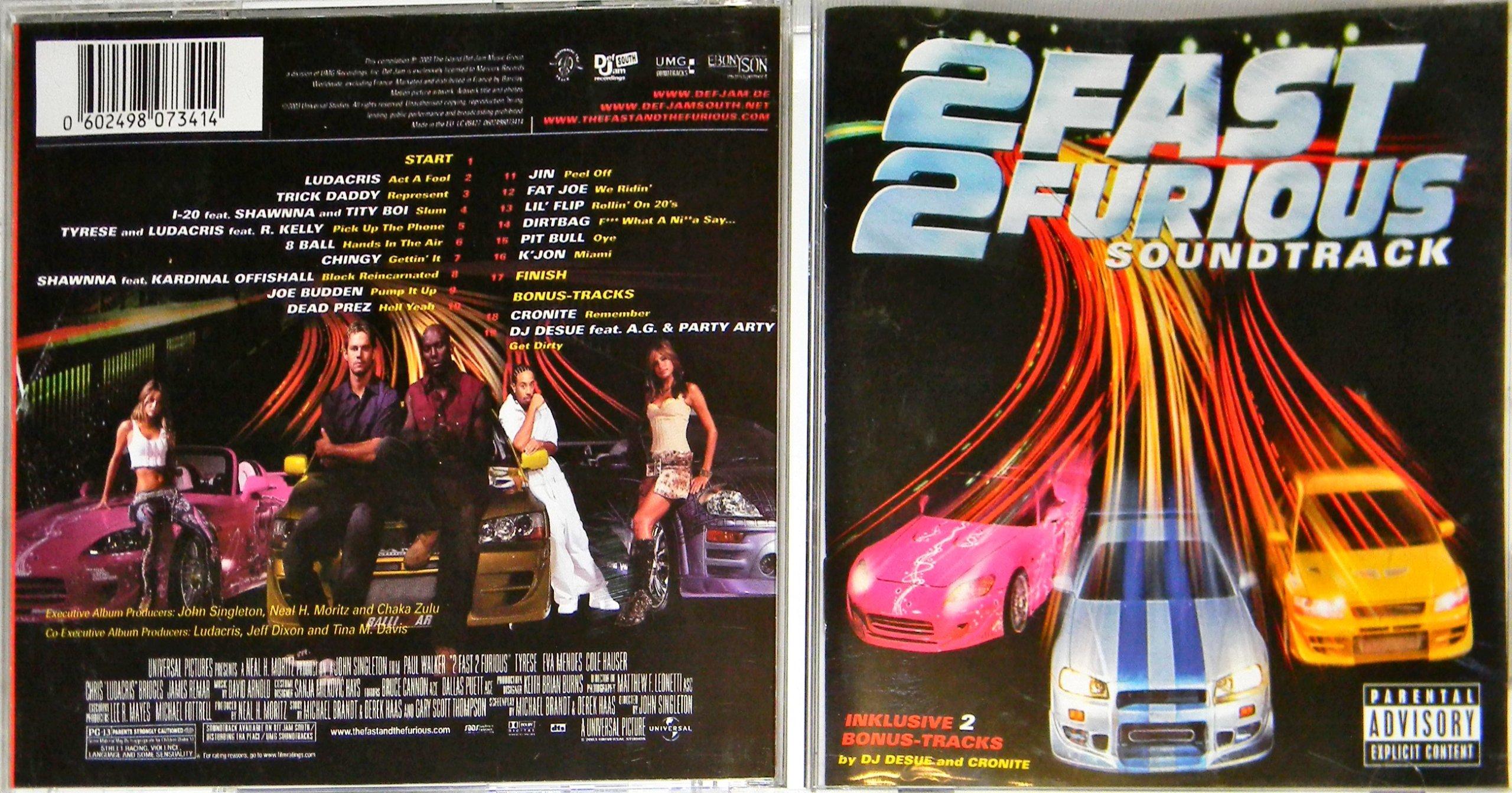 2 Fast 2 Furious (Soundtrack) 2003 ALBUM CD - 6760283837