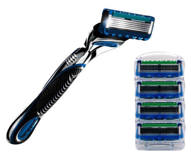 Zaawansowane MASZYNKA DO GOLENIA GILLETTE + 5 nożyków ostrzy - 7070450050 AK79