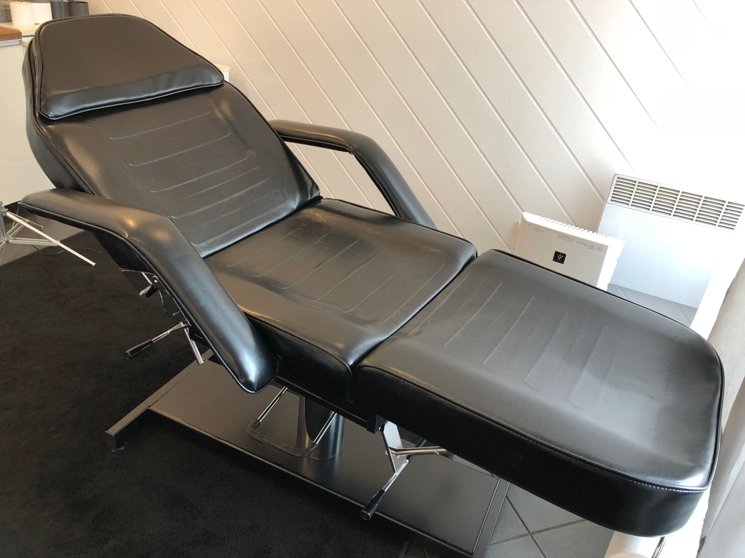 Fotel Kosmetyczny Hydrauliczny Czarny Stan Idealny