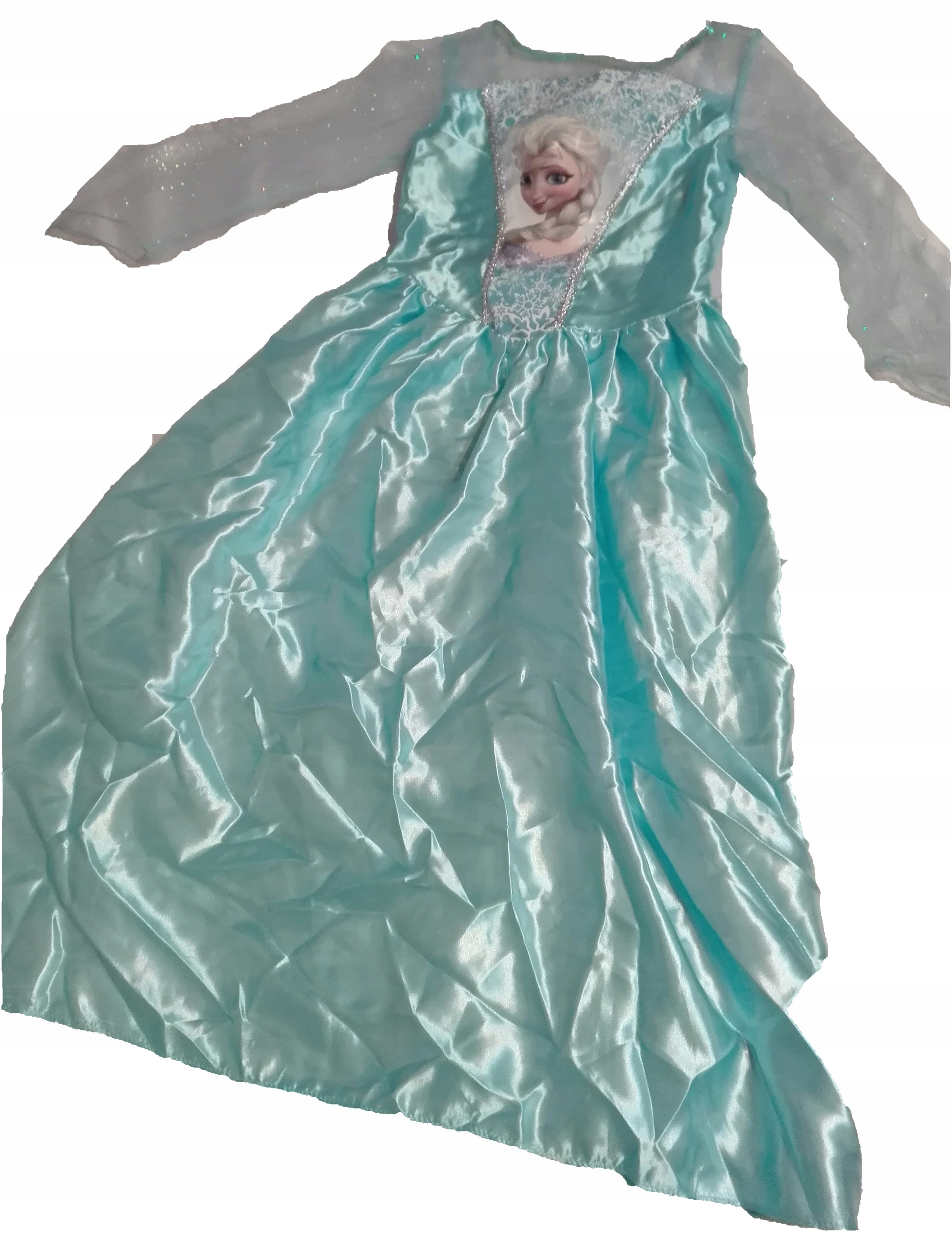 bc0f126b4d Strój Elza Kraina lodu 122-128 sukienka Przebranie - 7608493982 ...