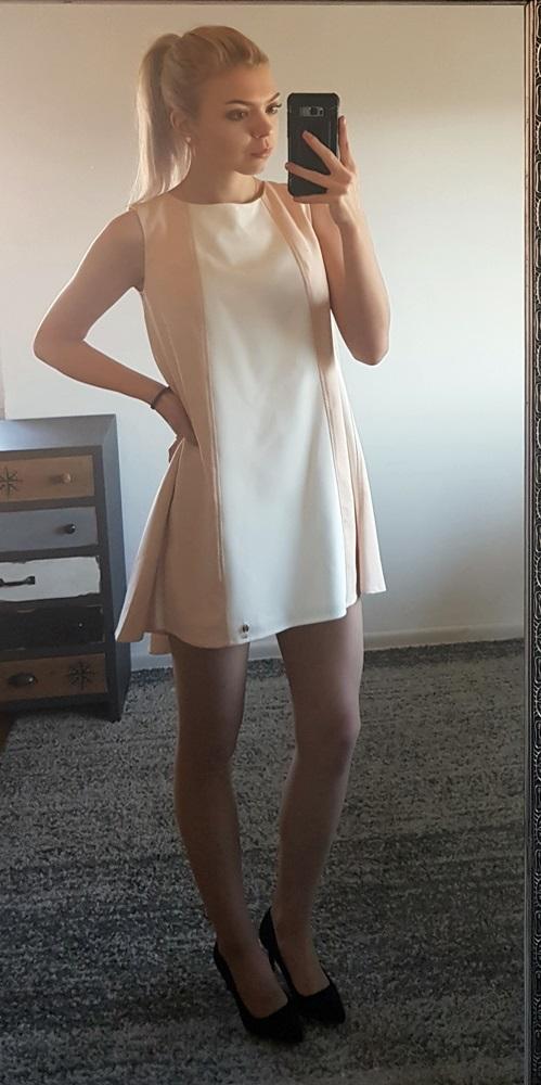 5e443a05 sukienka oversize BY O LA LA rozm S 36