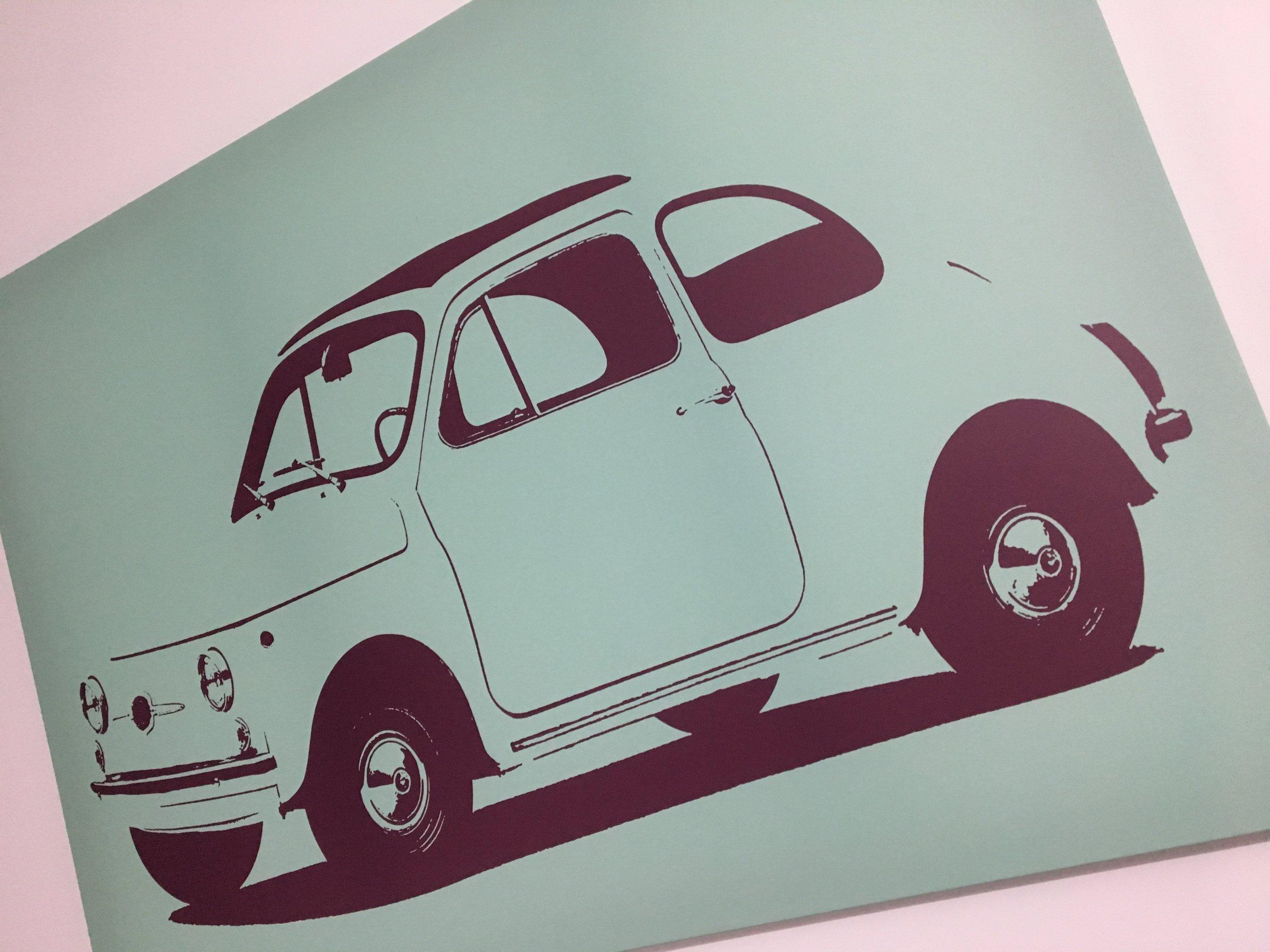 Obraz Zdjęcie Plakat Ikea Pjatteryd Fiat 500 7401269718
