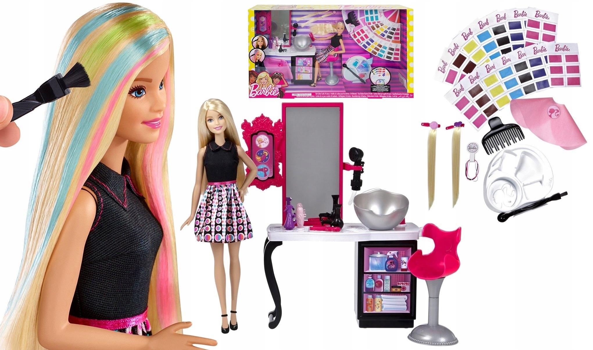 Barbie Lalka Pasemka Studio Fryzur Outlet 7426749484