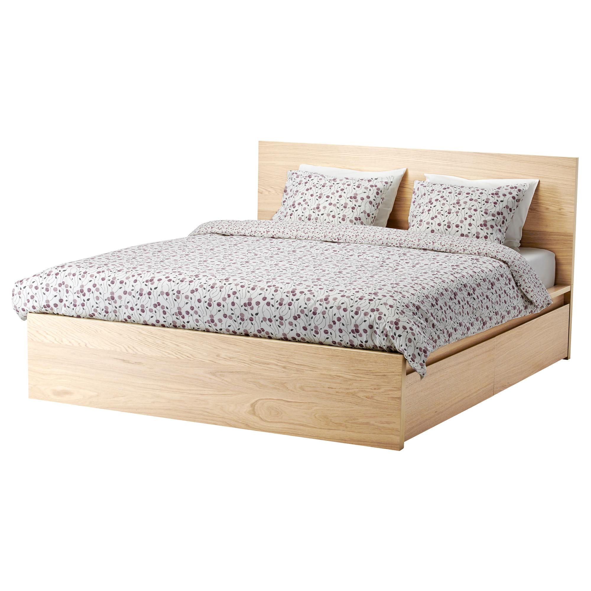 Malm Rama łóżka 160x200 2 Pojemniki Lury 7255499109