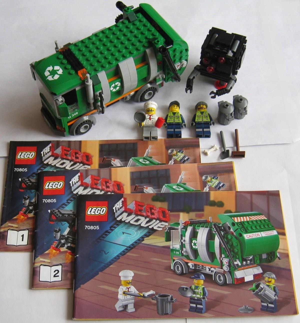 Lego The Movie 70805 śmieciarka Instrukcja 7435328618