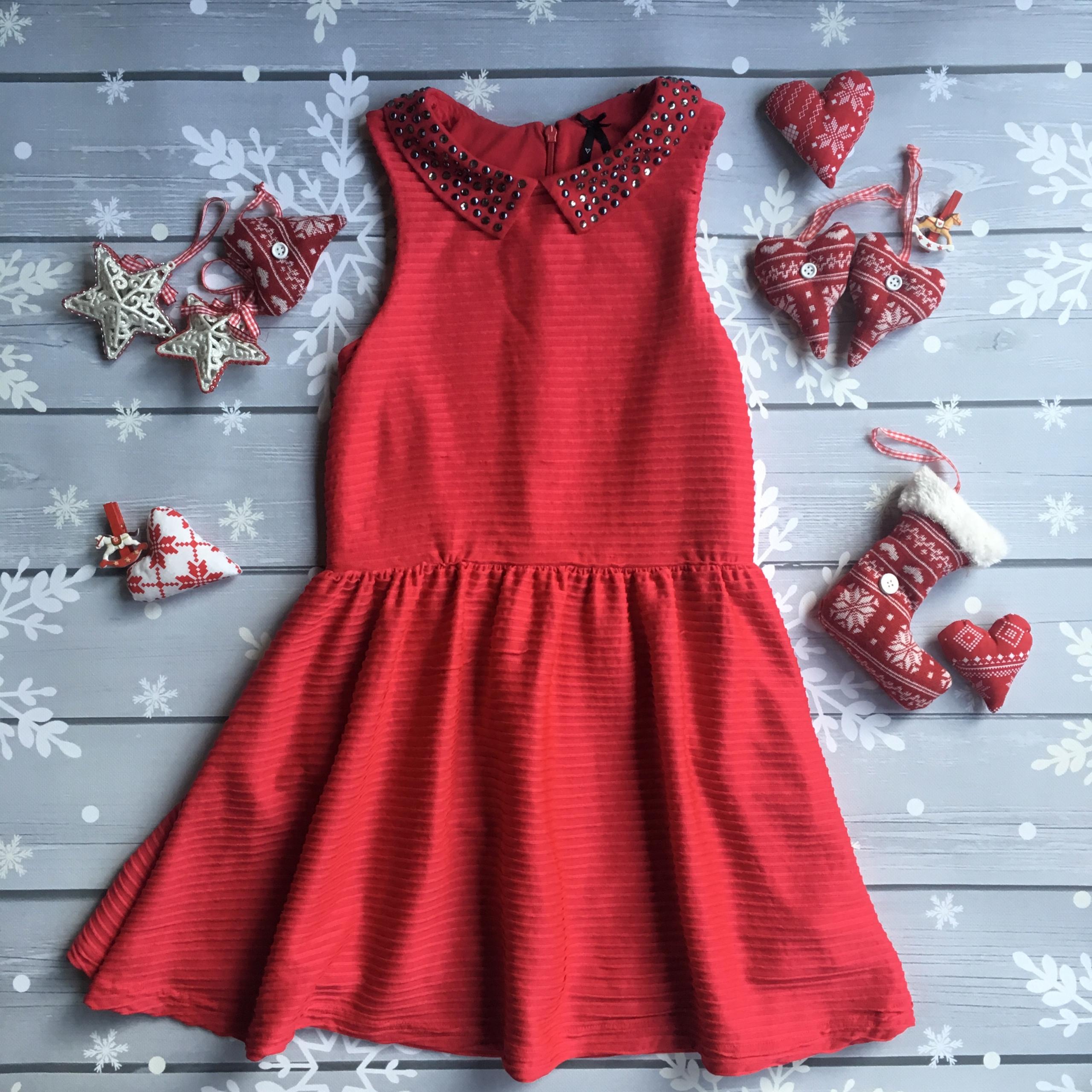 184f01f837 Next czerwona sukienka 134 9-10 lat Święta - 7688376781 - oficjalne ...