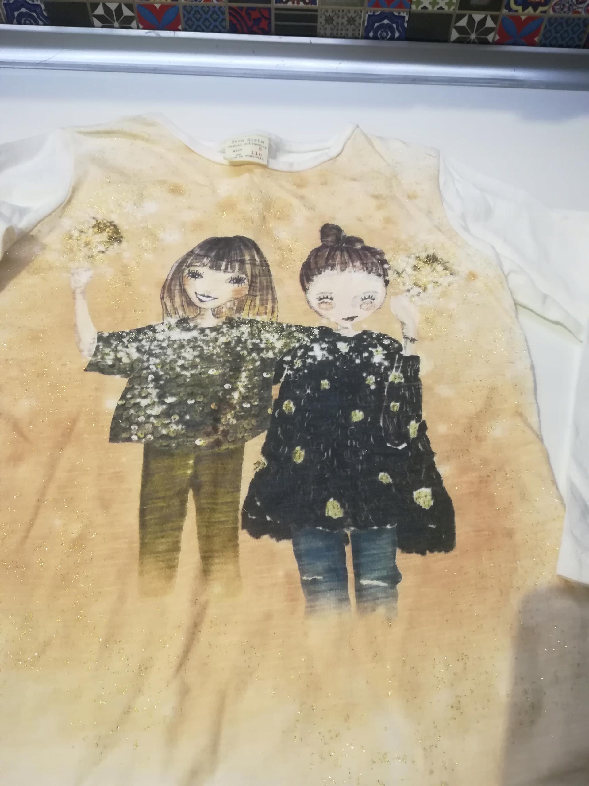 ZARA bluzki długi rękaw 110 dziewczynka 3 sztuki