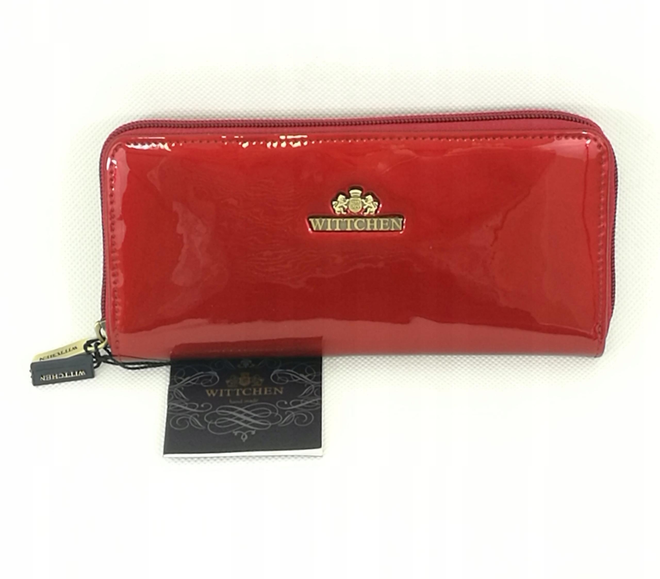 59370f430aeb7 Wittchen portfel z lakierowanej skóry NOWY - 7512479127 - oficjalne ...