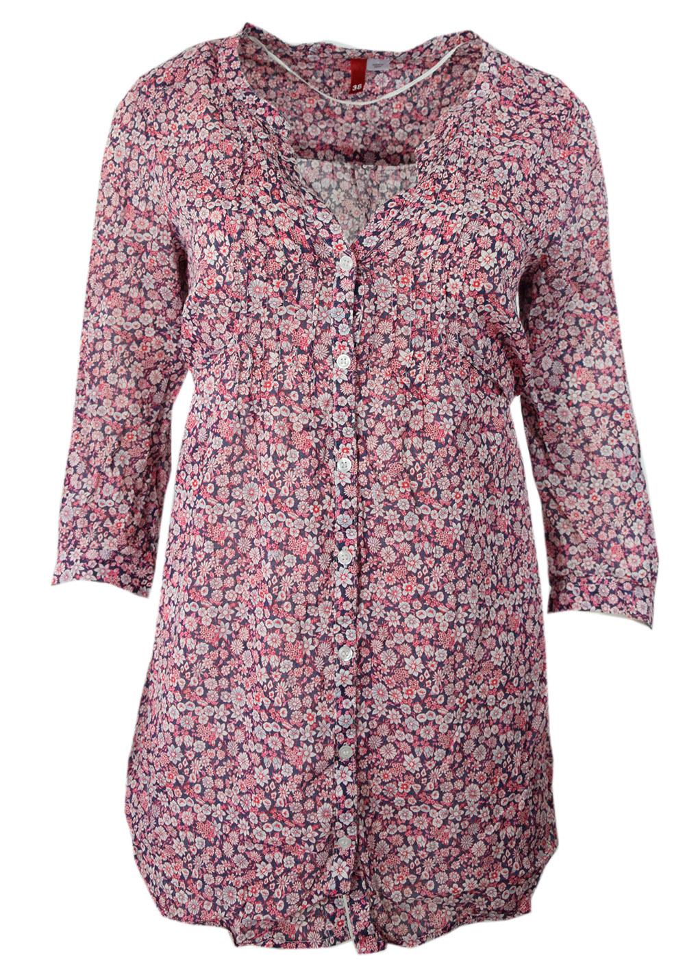 ce8cdb3a71bb0e H&M koszula różowa w kwiaty z wiązaniem 38/M - 7364976982 ...