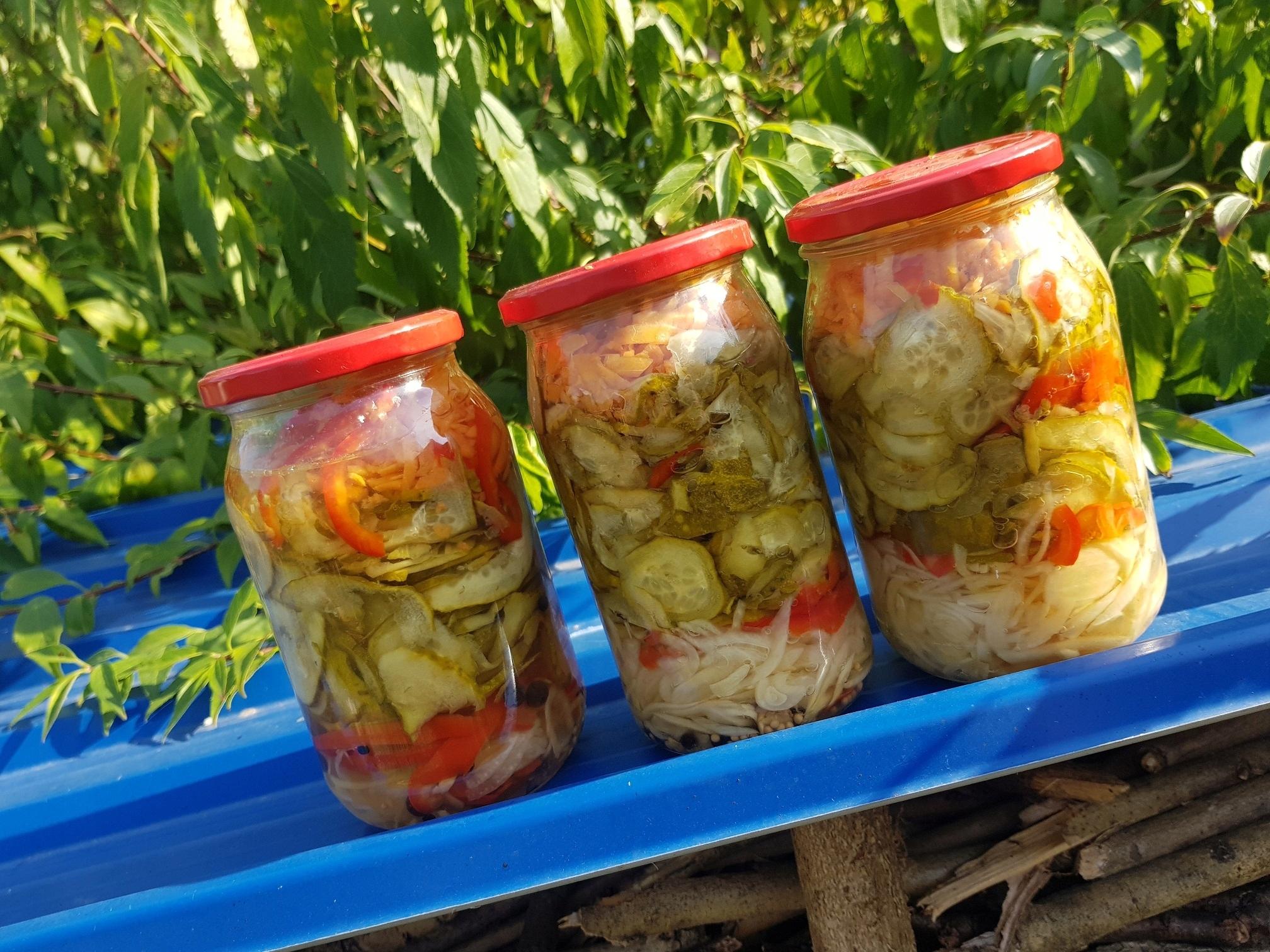 Domowa sałatka ogórkowa z ogórków papryki zimowa