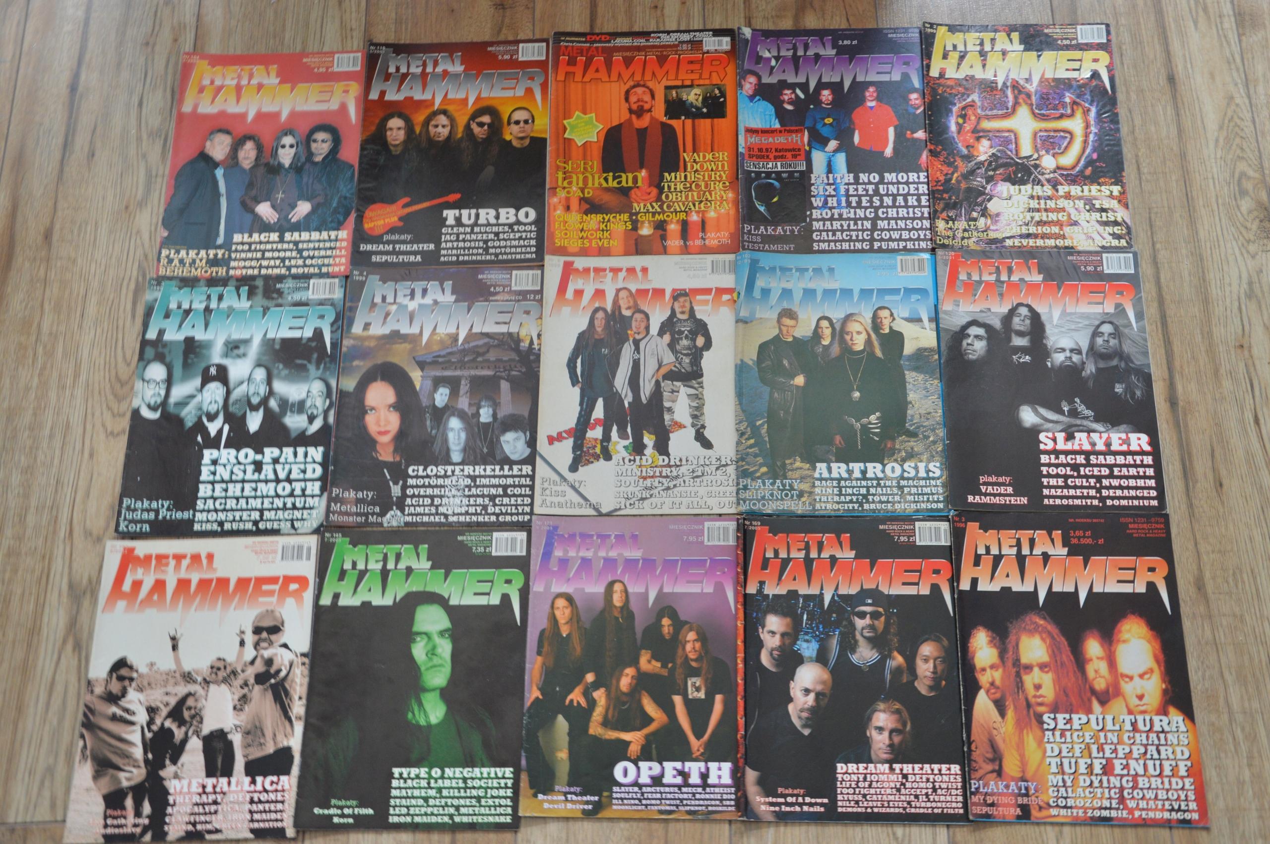 43 numery czasopism metalowych plakaty gratis