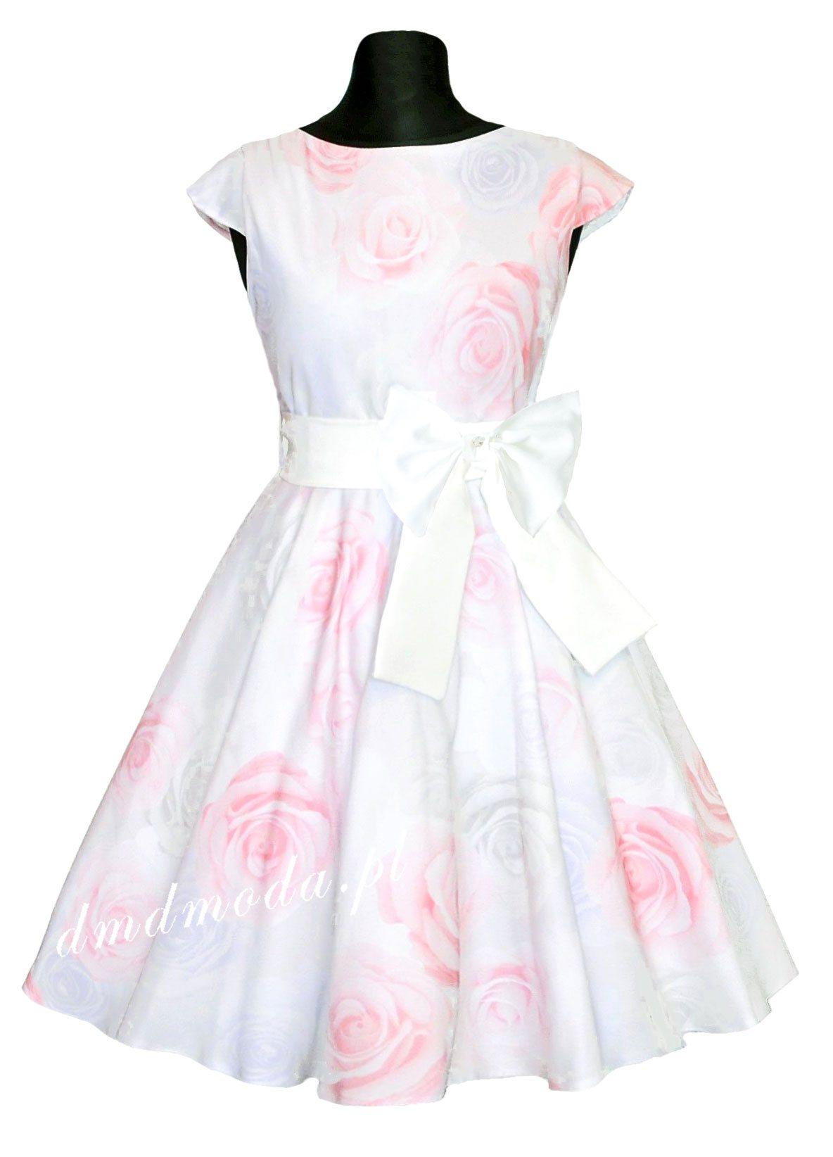 0440cb4fb0 Sukienka letnia dla dziewczynki z koła+ tiul 146 - 7429014721 ...