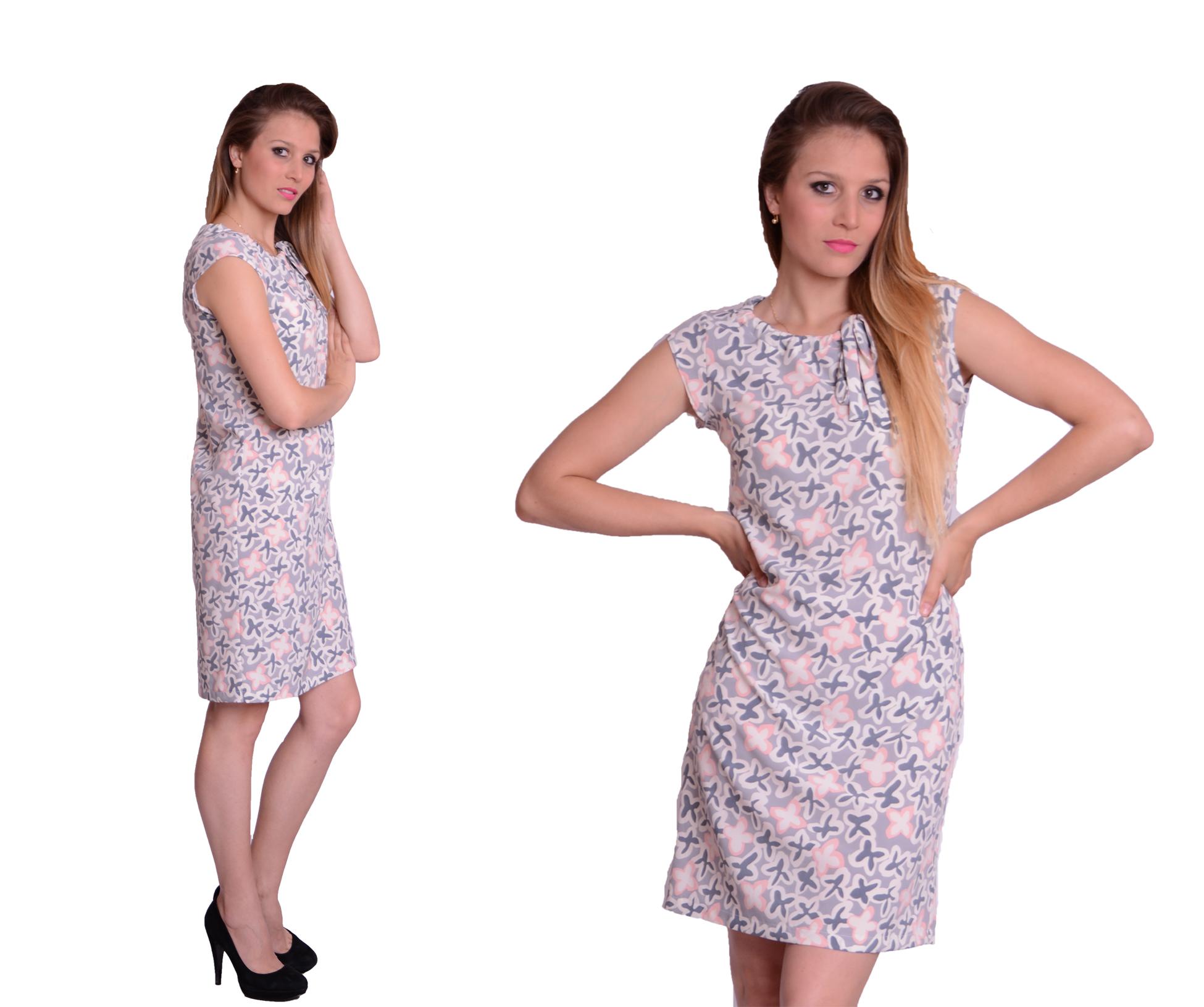 982ddc1b44 Sukienka Letnia Trapez Druk Kwiaty Wiązana rozm.44 - 7379533333 ...