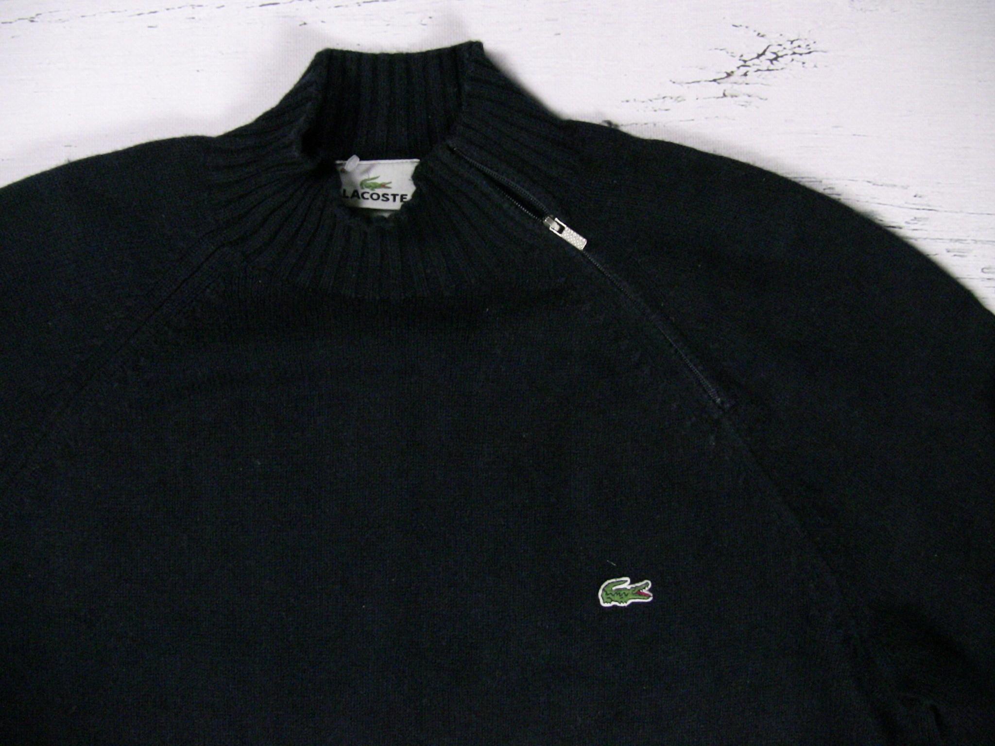 137e290d9 Lacoste Sweter Granatowy Męski Golf XL BDB - 7111138175 - oficjalne ...
