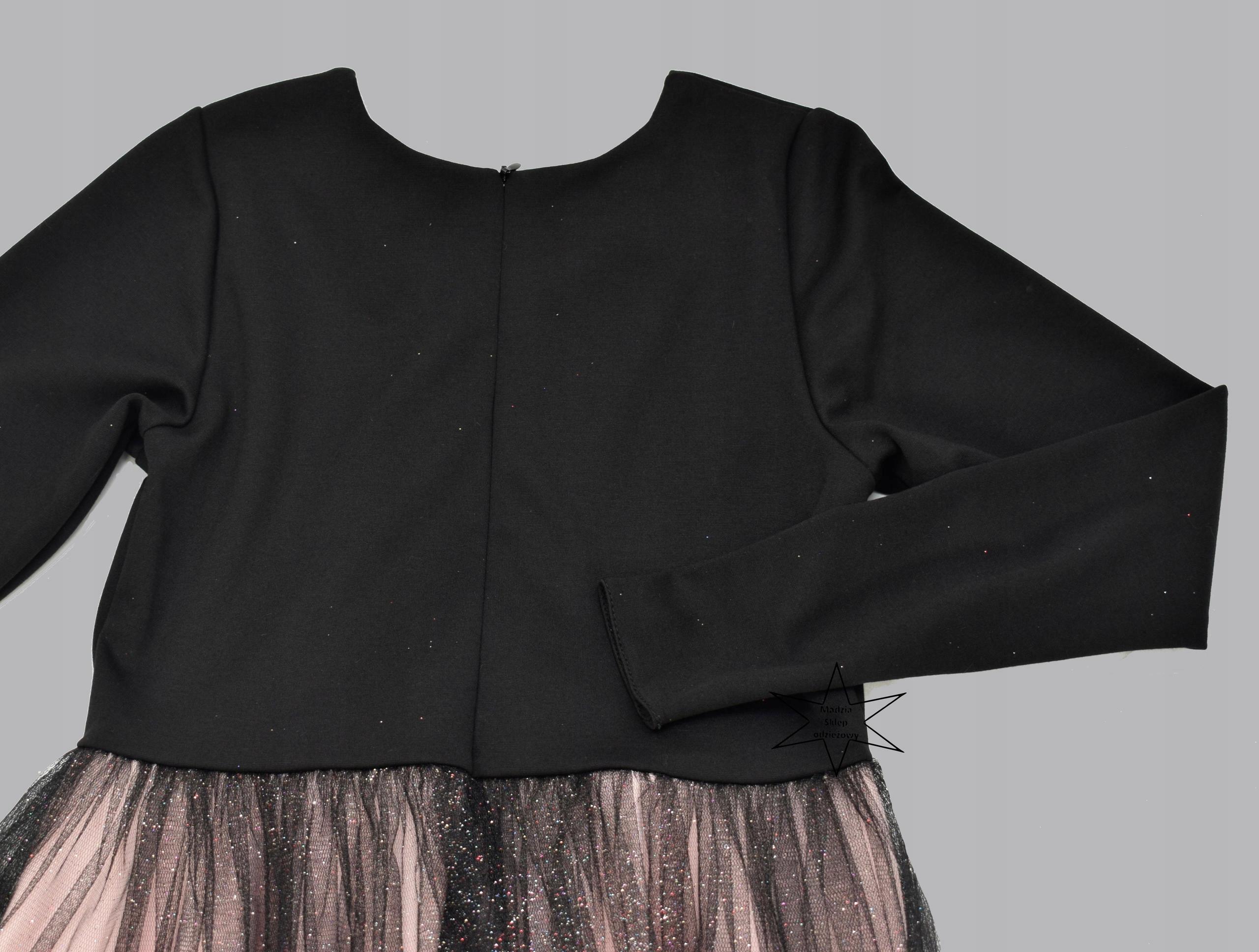2f2a1e845c Sukienka elegancka wizytowa tiul brokat 152 - 7685571580 - oficjalne ...
