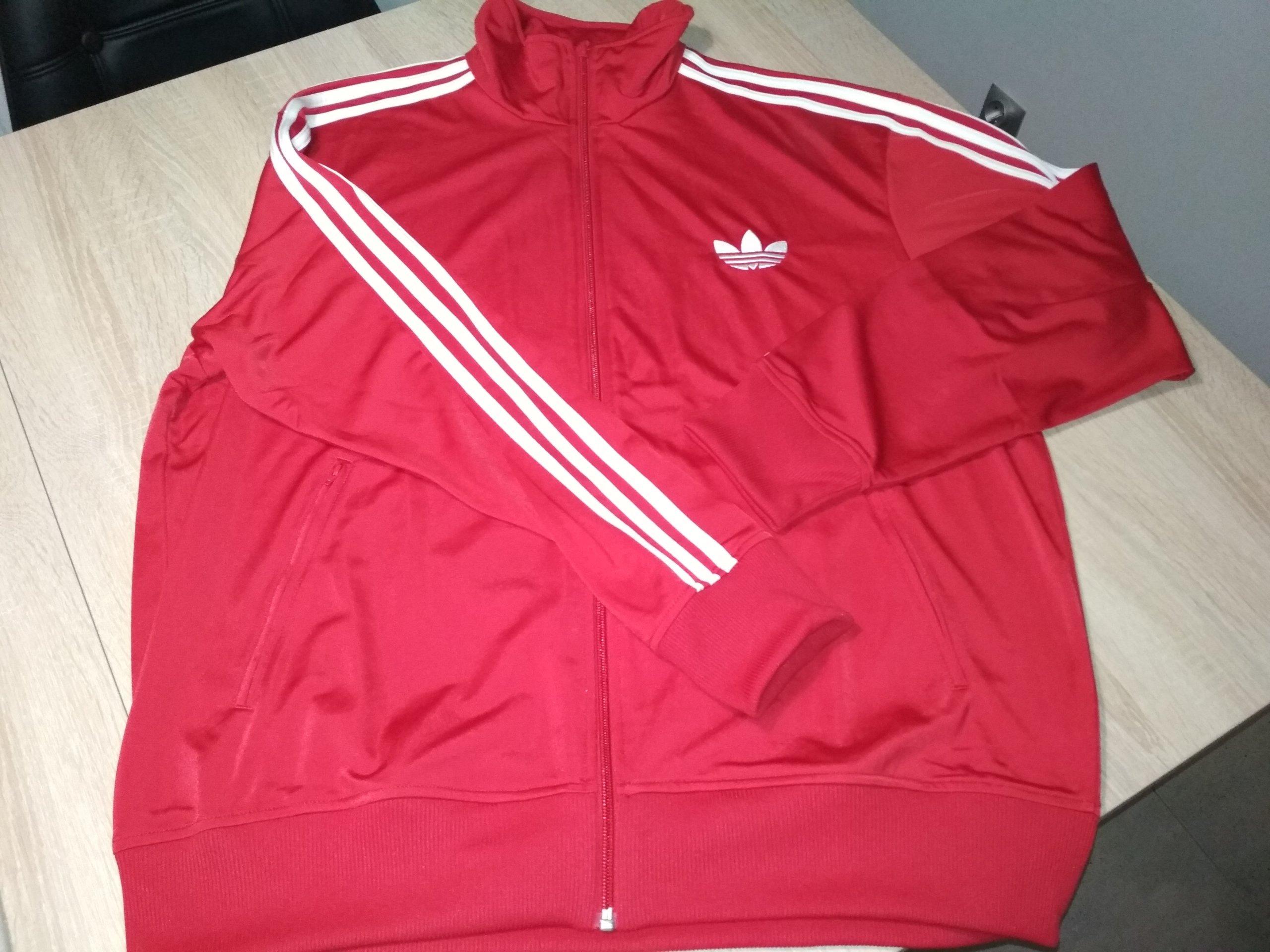 bluza adidas męska czerwona allegro