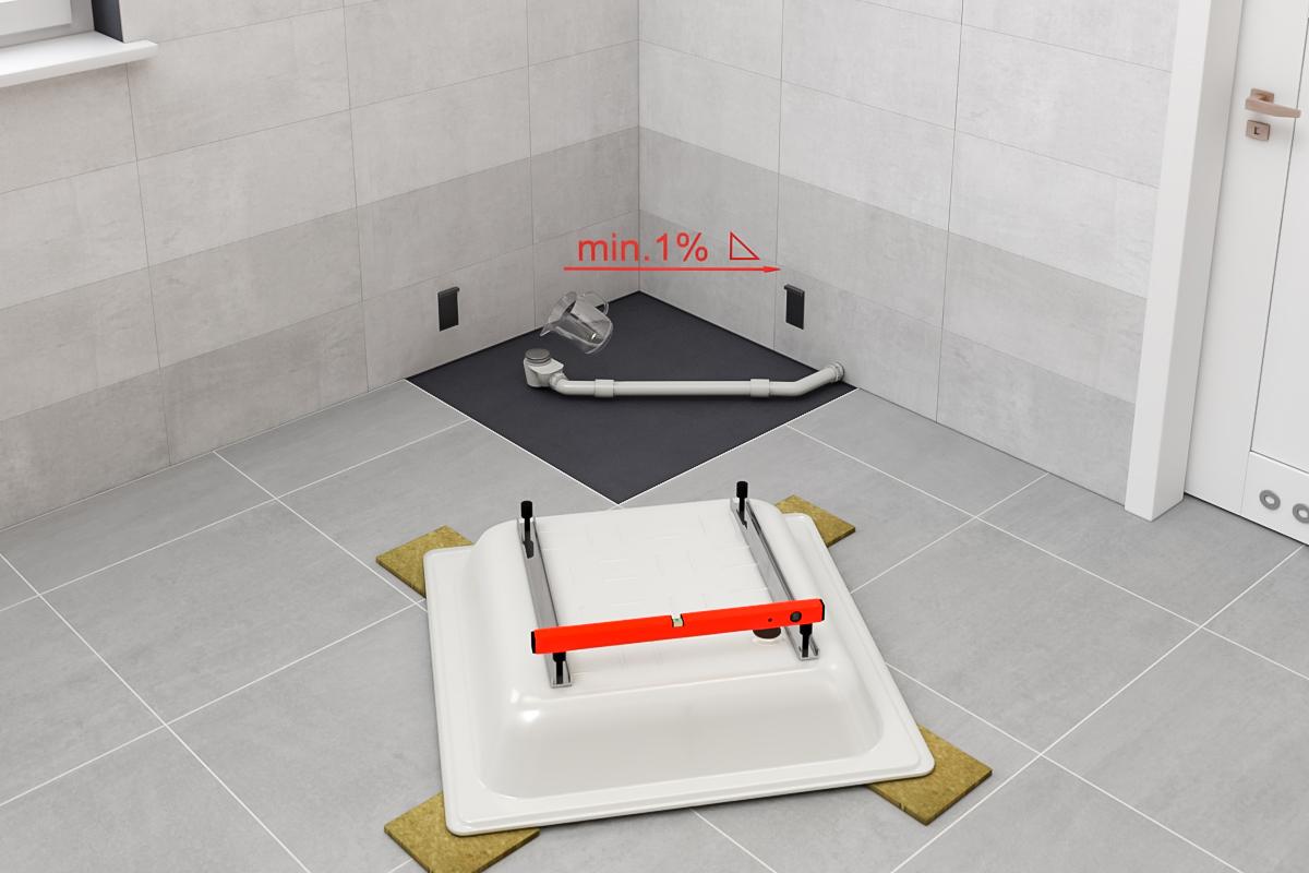 inštalácia sprchovej vaničky 1