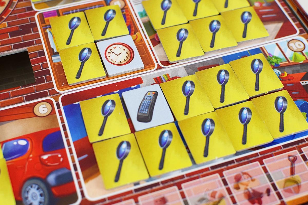 Obrázok 6 Odkryté žetóny počas ťahu jedného hráča